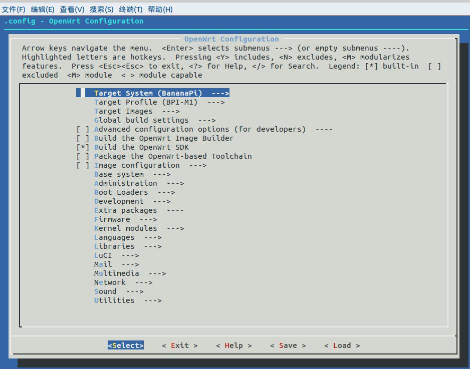 banana pi(BPI-M1) openwrt系统的编译